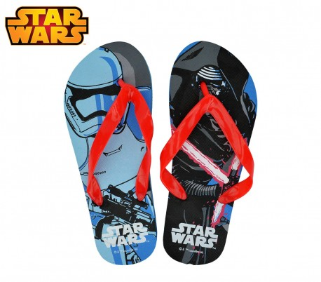 SWE7043 Chanclas infantiles de goma con motivo de Star Wars