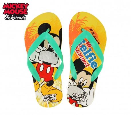 WD16982 Chanclas infantiles de goma con motivo de Mickey Mouse