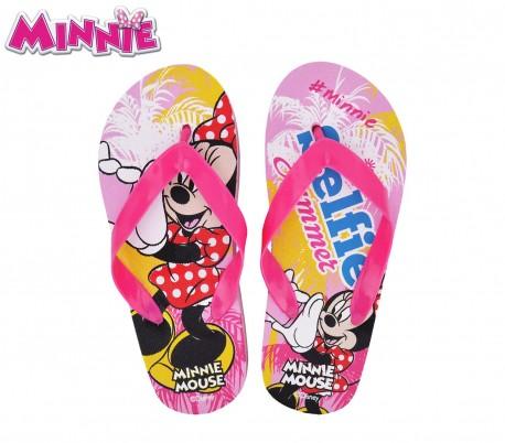 WD16983 Chanclas infantiles de goma con motivo de Minnie Mouse