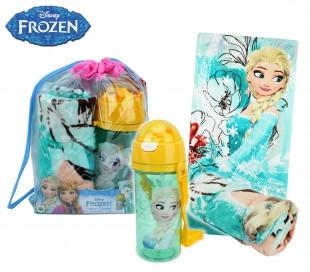 Mochila de playa princesa Elsa de Frozen incluye botella y toalla