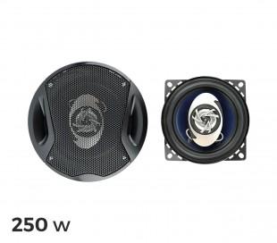 Altavoces coaxiales para coche de 250 W (2 vías, 91 dB)