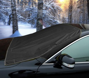 2270 Manta parabrisas coche cubierta de nieve hielo y sol NEGRO con imanes