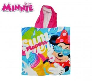 WD16951 Albornoz con capucha de algodón motivo Minnie Mouse 120x60